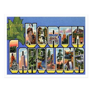 Carte Postale Salutations de la Caroline du Nord