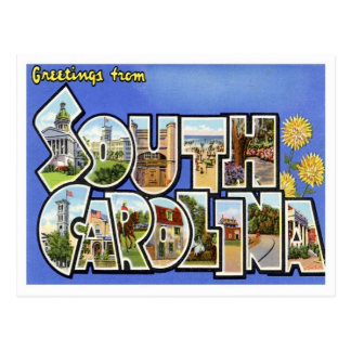 Carte Postale Salutations de la Caroline du Sud