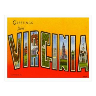 Carte Postale Salutations de la Virginie