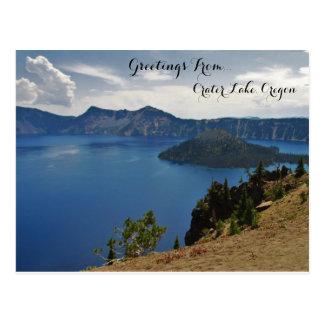 Carte Postale Salutations de lac crater