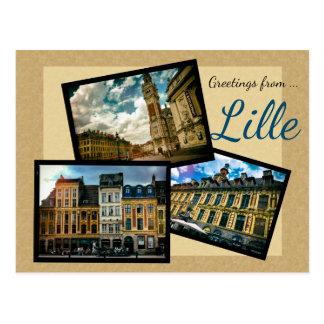 Carte Postale Salutations de Lille