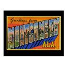 Carte Postale Salutations de Montgomery Alabama
