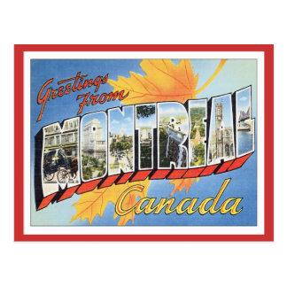 Carte Postale Salutations de Montréal Canada