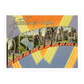 Carte Postale Salutations de Pennsylvanie