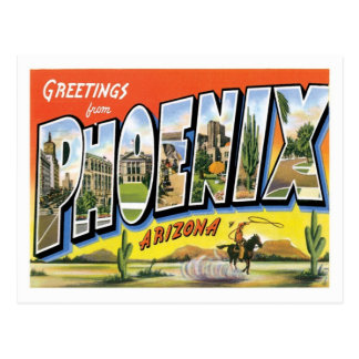 Carte Postale Salutations de Phoenix Arizona de ville des USA