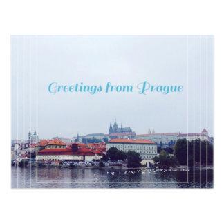 Carte Postale salutations de Prague, République Tchèque