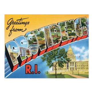 Carte Postale Salutations de Providence, Île de Rhode