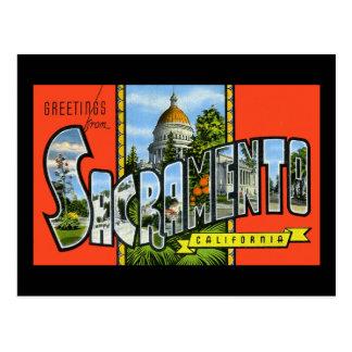 Carte Postale Salutations de Sacramento la Californie