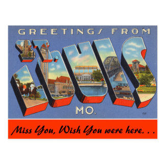 Carte Postale Salutations de St Louis