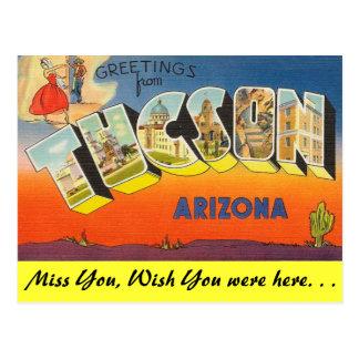 Carte Postale Salutations de Tucson