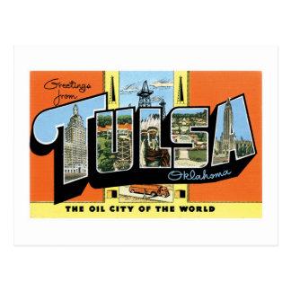 Carte Postale Salutations de Tulsa, l'Oklahoma