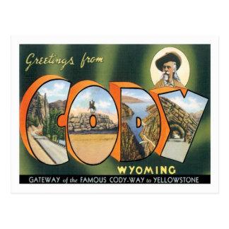 Carte Postale Salutations de ville de Cody Wyoming USA