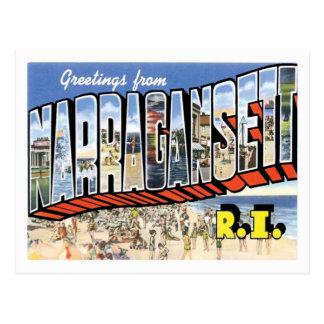 Carte Postale Salutations de ville de Narragansett Île de Rhode