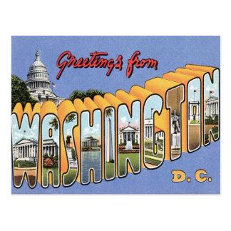 Carte Postale Salutations de Washington, C.C Etats-Unis