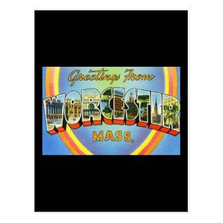 Carte Postale Salutations de Worcester le Massachusetts