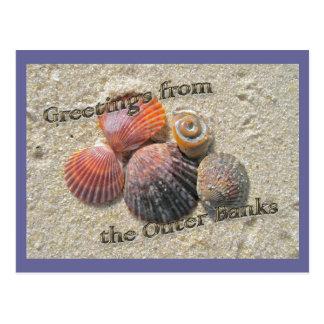 Carte Postale Salutations des coquillages externes de banques