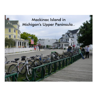 Carte Postale Salutations d'île de Mackinac.