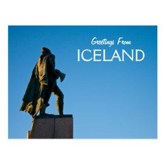 Carte Postale Salutations d'Islande