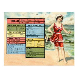 Carte Postale Salutations du bord de la mer de la personne
