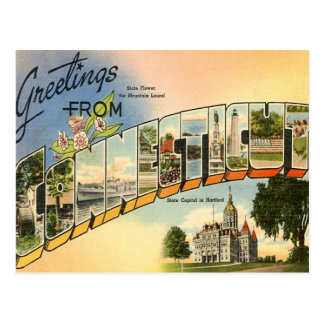 Carte Postale Salutations du Connecticut
