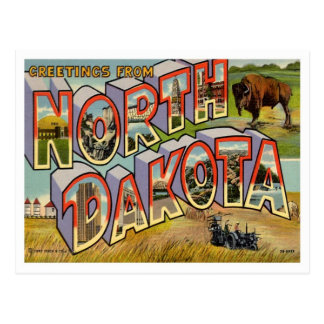 Carte Postale Salutations du Dakota du Nord