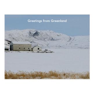 Carte Postale Salutations du Groenland 14