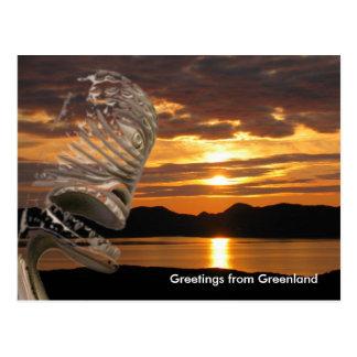 Carte Postale Salutations du Groenland 20
