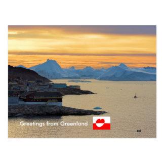 Carte Postale Salutations du Groenland 21