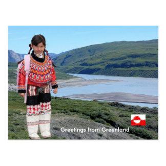 Carte Postale Salutations du Groenland 223