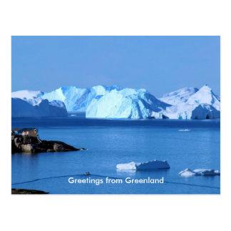 Carte Postale Salutations du Groenland 9