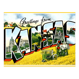 Carte Postale Salutations du Kansas