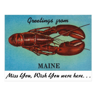 Carte Postale Salutations du Maine