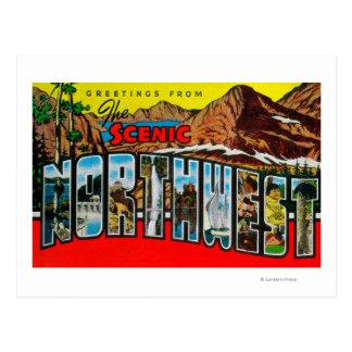 Carte Postale Salutations du nord-ouest pittoresque