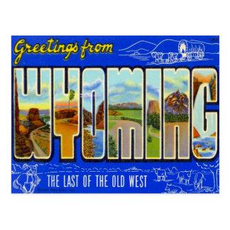 Carte Postale Salutations du Wyoming WY Etats-Unis