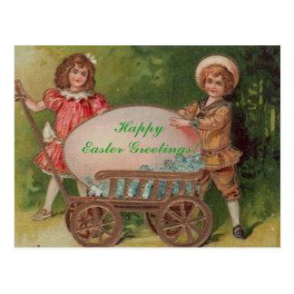 Carte Postale Salutations heureuses de Pâques !