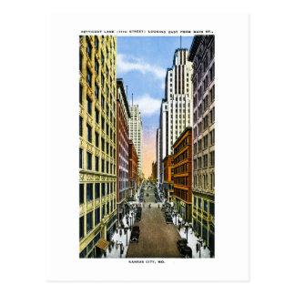 Carte Postale Salutations vintages de Kansas City, Missouri de