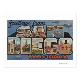 Carte Postale San Diego, la Californie - grandes scènes de