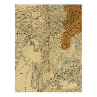 Carte Postale San Francisco a brûlé le secteur, 1906