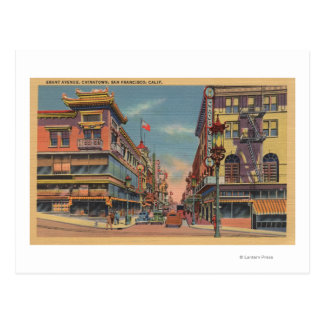Carte Postale San Francisco, avenue de CAGrant dans Chinatown