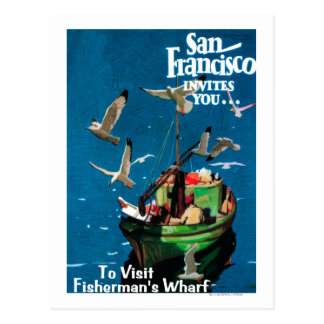 Carte Postale San Francisco, le quai de CaliforniaFisherman