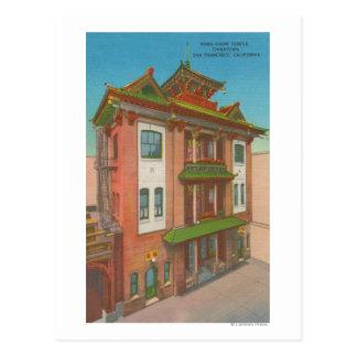 Carte Postale San Francisco, temple de bouffe de CAKong dans