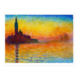Carte Postale San Giorgio Maggiore au crépuscule Claude Monet
