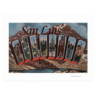 Carte Postale San Luis, le Colorado - grandes scènes de lettre