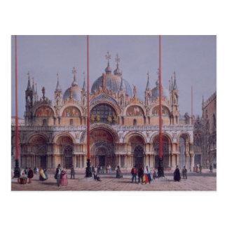 Carte Postale San Marco, Venise, gravée par Brizeghel (litho)