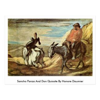 Carte Postale Sancho Panza et Don don Quichotte par Honore