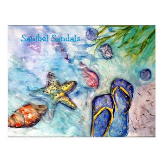 Carte Postale Sandales de Sanibel