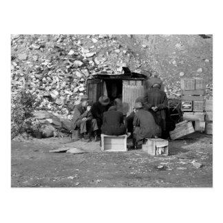 Carte Postale Sans-abri et chômeurs 1938