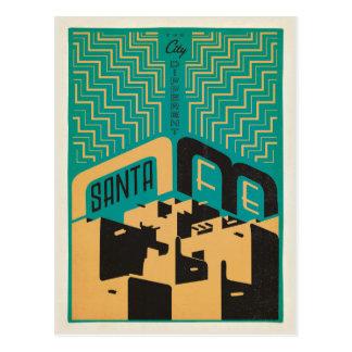 Carte Postale Santa Fe, Nouveau Mexique | la ville différente