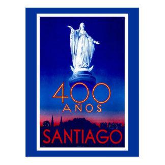 Carte Postale Santiago vintage