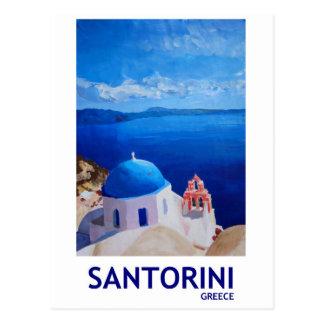 Carte Postale Santorini bleu, Grèce - vue d'Oia
